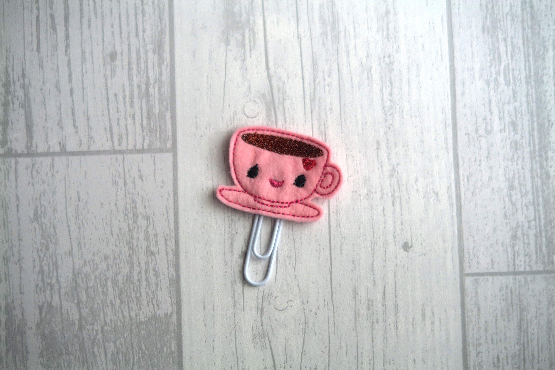 Tea Cup Planner Clip