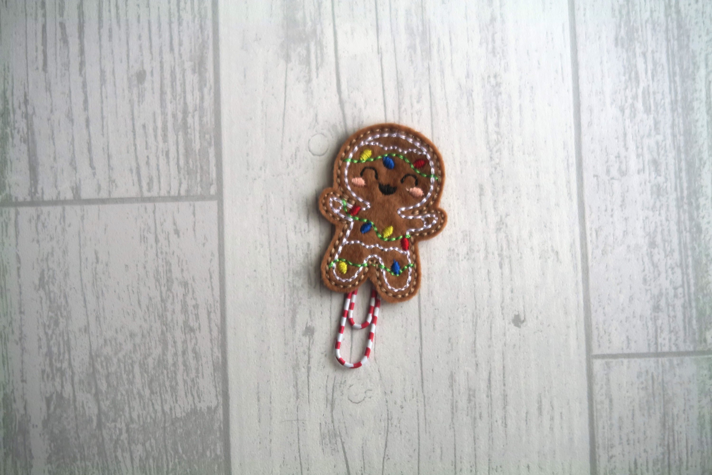 Gingerbread Man Planner Clip