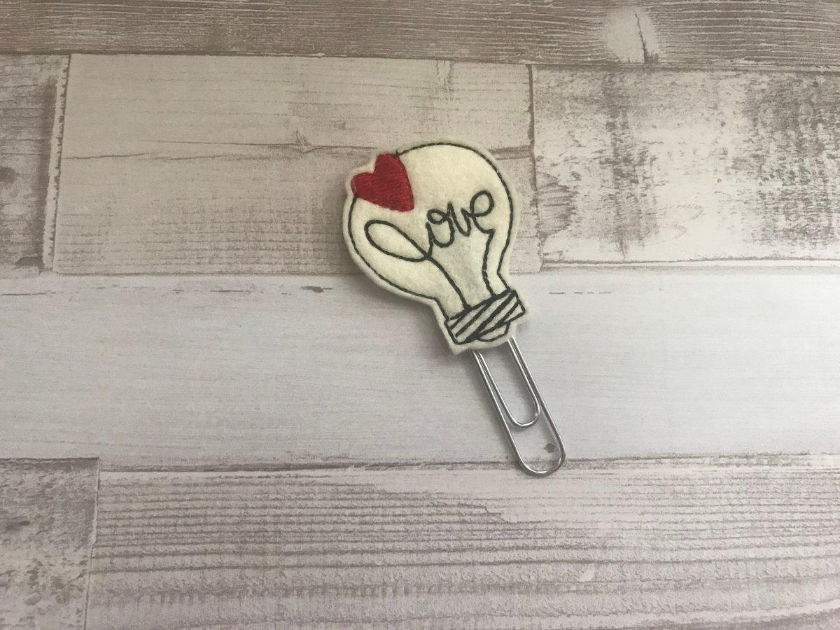 Love Light Planner Clip