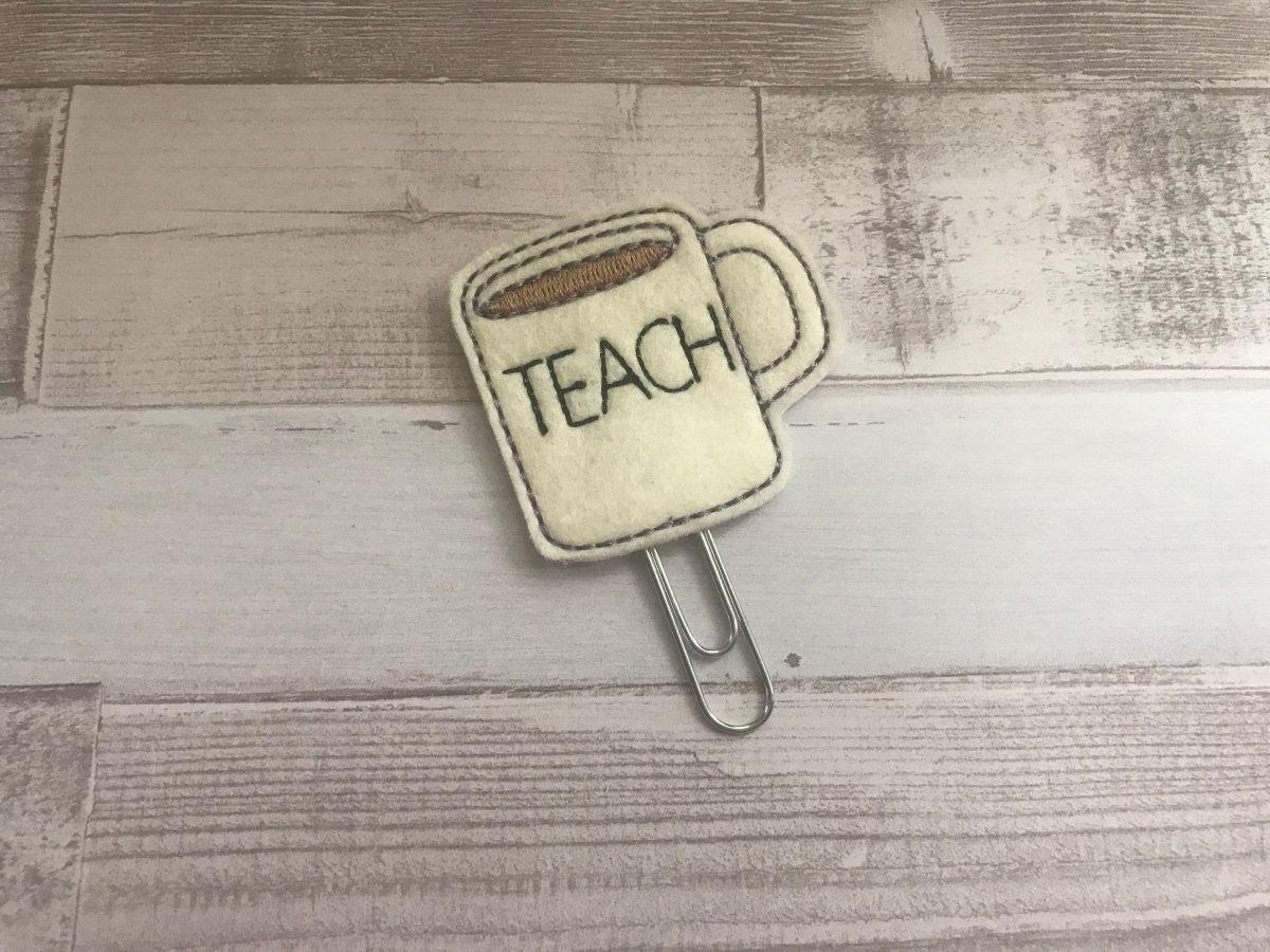 Teach Mug planner clip