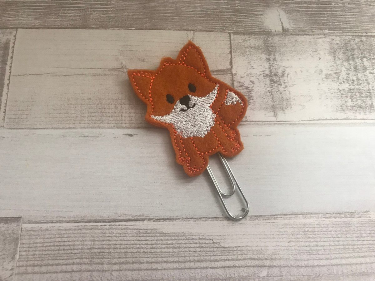 Cute Fox planner clip